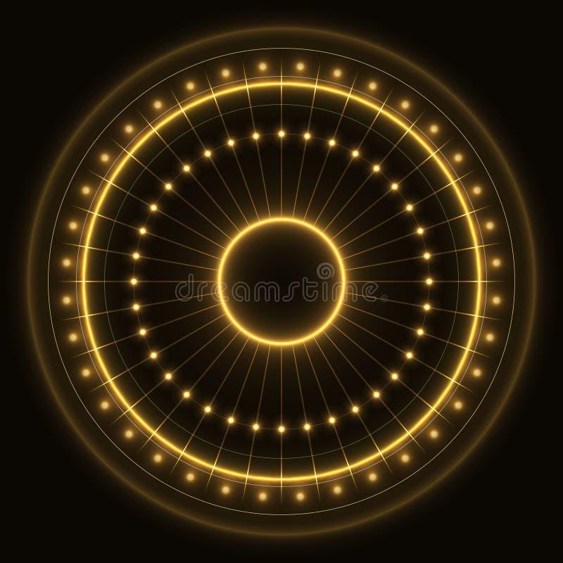 Anello di oro astratto fotografia stock