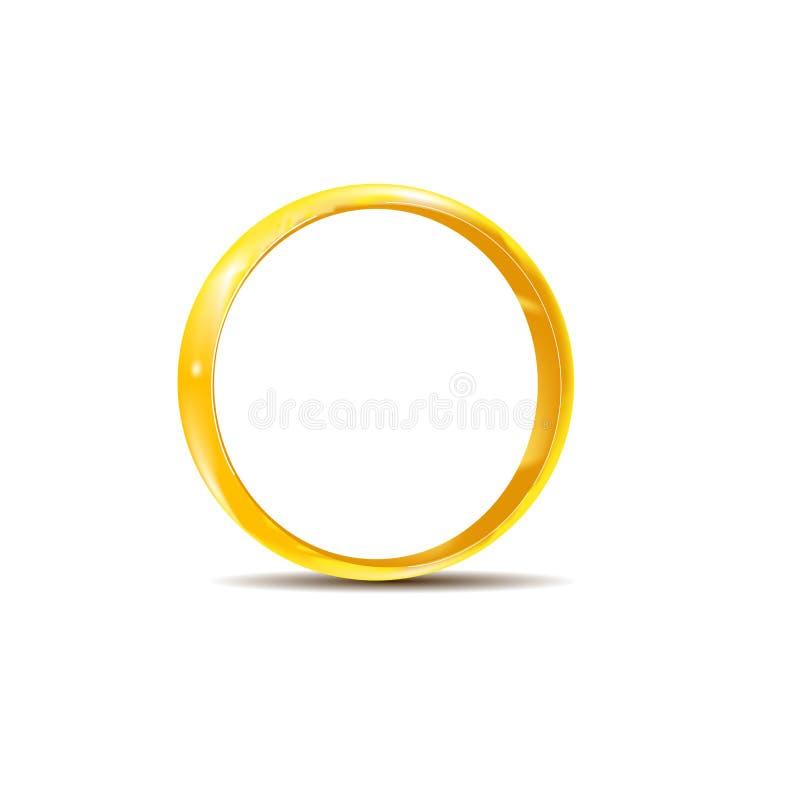 Anello di oro con ombra ed i punti culminanti immagini stock libere da diritti