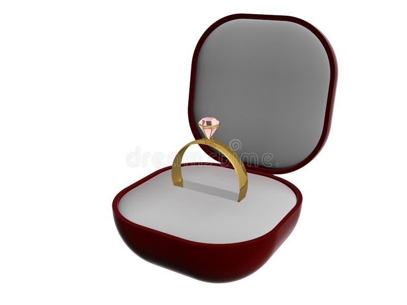 Anello di oro con una pietra illustrazione vettoriale