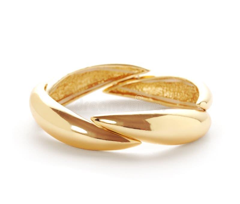 Anello o braccialetto dorato fotografie stock libere da diritti