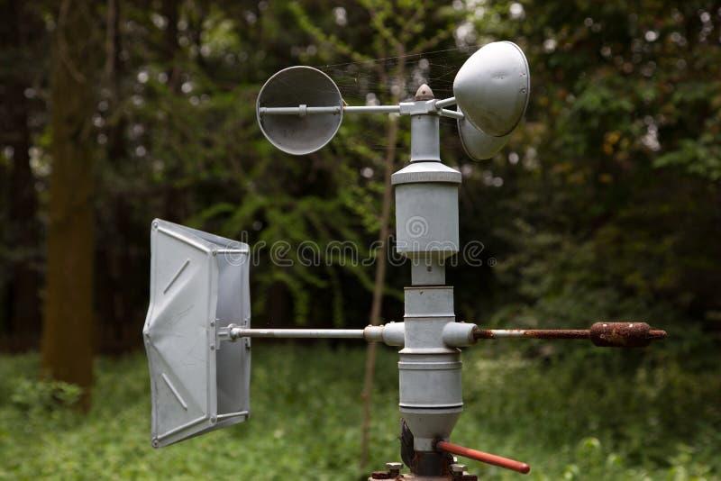 Anemómetro (equipo de la meteorología) fotografía de archivo