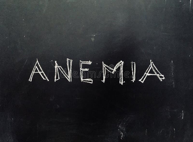 Anemia Ręcznie pisany na Blackboard zdjęcia stock