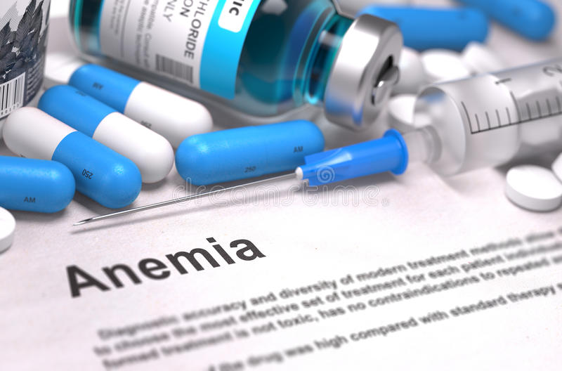 Anemii diagnoza MEDYCZNY pojęcie Skład zdjęcia royalty free