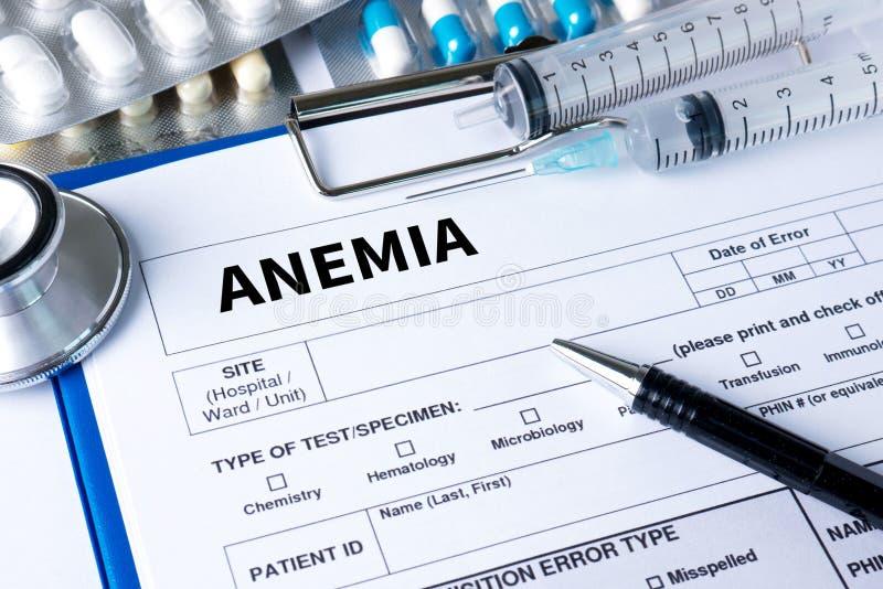 ANEMII krew dla anemia testa, Medyczny pojęcie: Anemia, Diagno zdjęcia stock