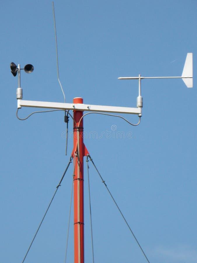 Anemometer - apparat som används för att mäta hastigheten av vind royaltyfria bilder