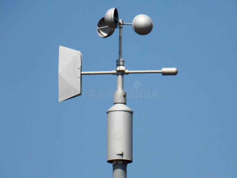 Anemometer - apparat som används för att mäta hastigheten av vind fotografering för bildbyråer
