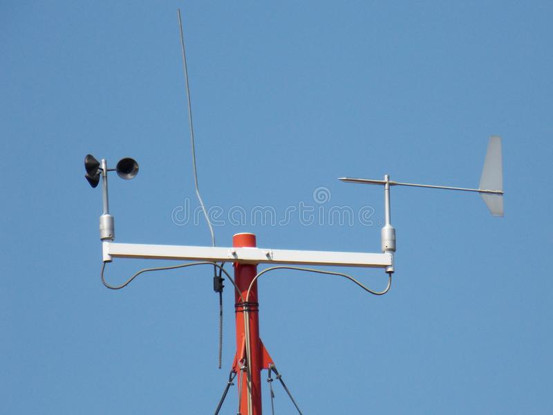 Anemometer - device used for measuring the speed of wind royalty free stock image