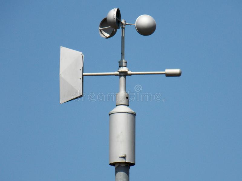 Anemometer - device used for measuring the speed of wind stock image