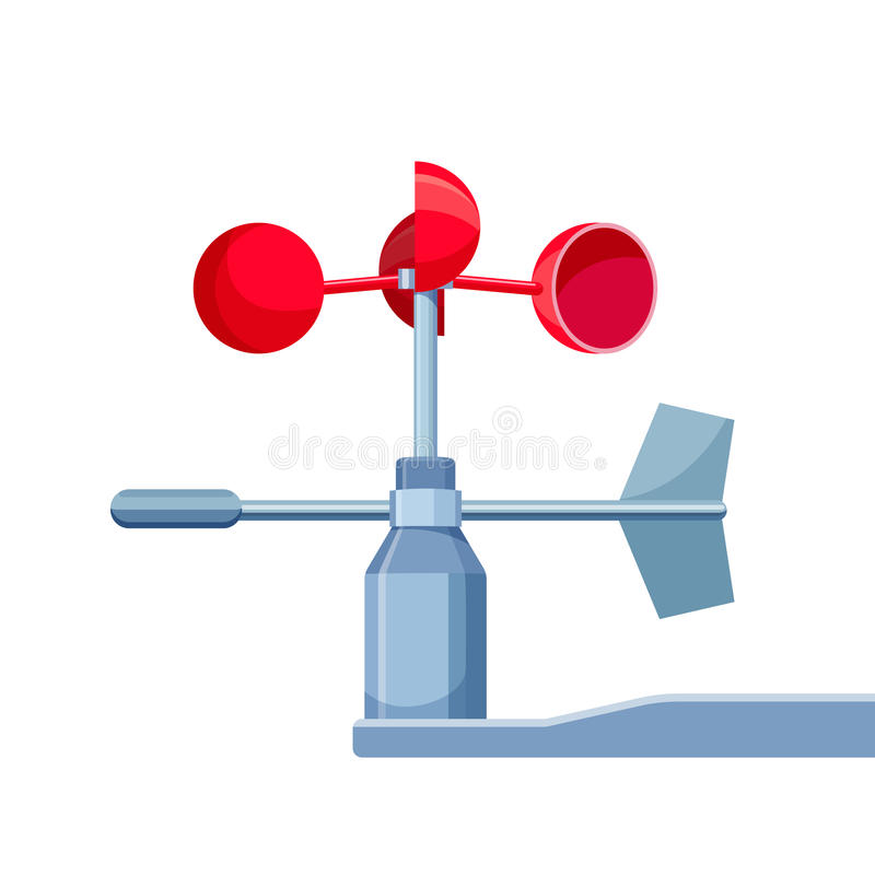 Anemometer Device Used for Measuring Wind Speed royalty free illustration