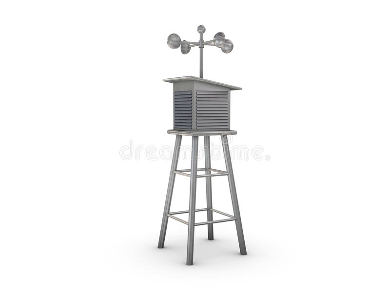 Anemometer house. With hemispherical cups royalty free illustration