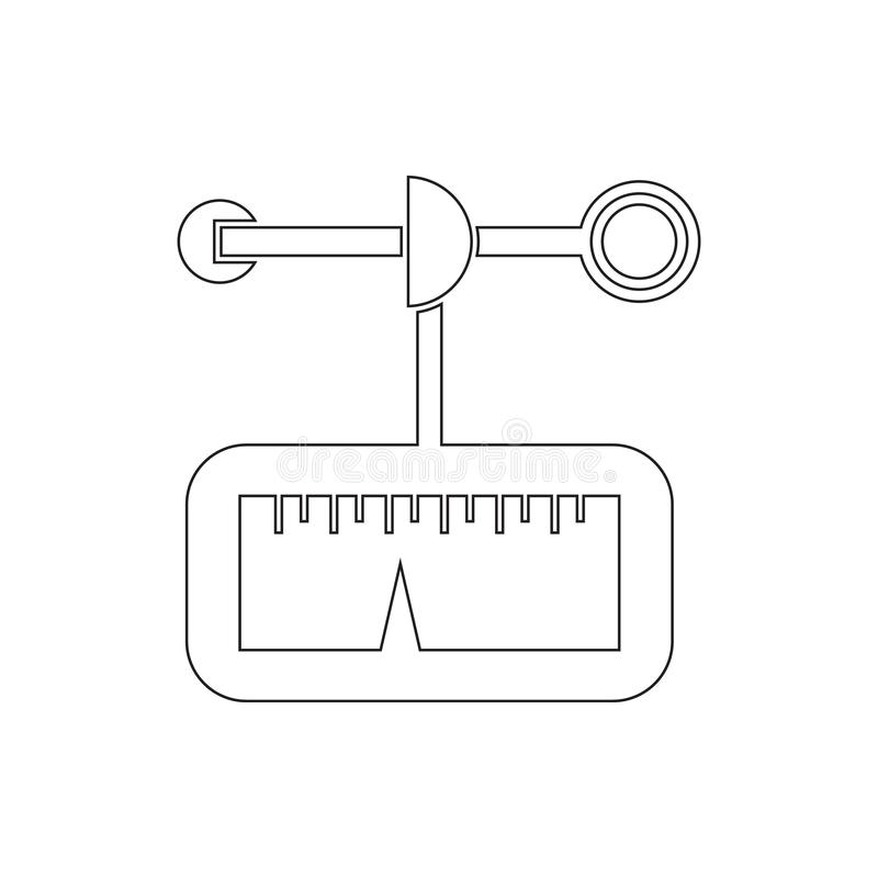 Anemometer icon. Element of measuring elements for mobile concept and web apps icon. Thin line icon for website design and. Development, app development on royalty free illustration