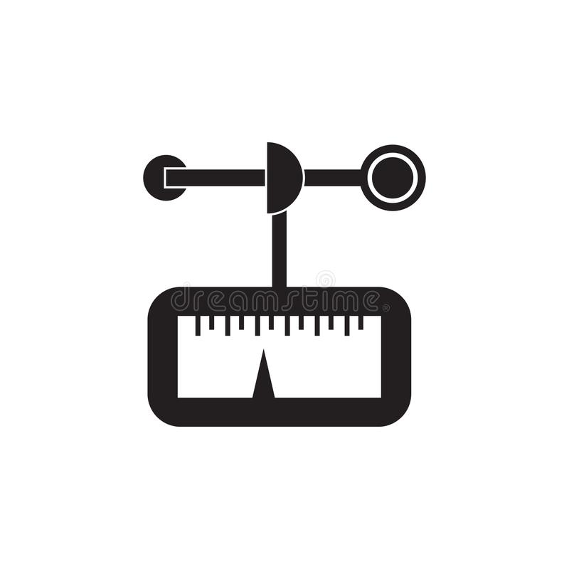 Anemometer icon. Element of Measuring items for mobile concept and web apps. Icon for website design and development, app developm. Ent. Premium icon on white royalty free illustration