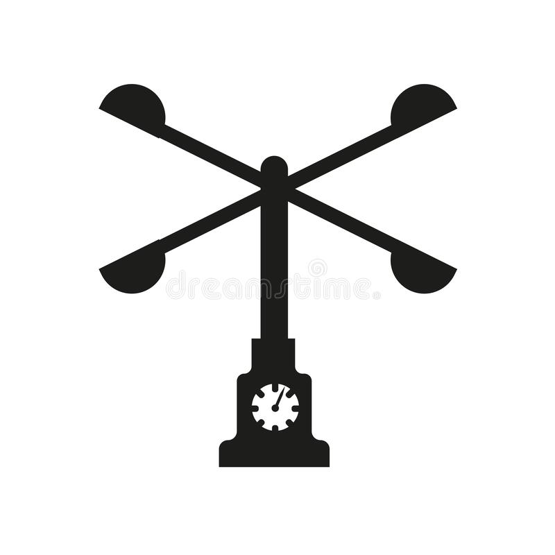 Anemometer icon. Trendy Anemometer logo concept on white background from Weather collection. Suitable for use on web apps, mobile apps and print media stock illustration