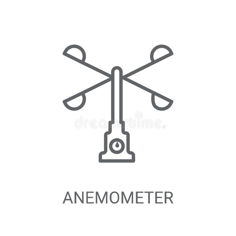 Anemometer icon. Trendy Anemometer logo concept on white backgro. Und from Weather collection. Suitable for use on web apps, mobile apps and print media vector illustration