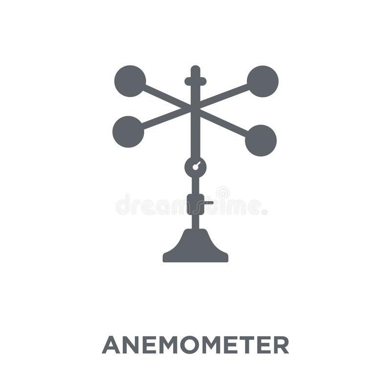 Anemometer icon from Weather collection. Anemometer icon. Anemometer design concept from Weather collection. Simple element vector illustration on white royalty free illustration