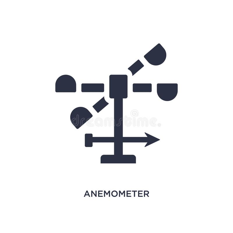 Anemometer icon on white background. Simple element illustration from weather concept. Anemometer isolated icon. Simple element illustration from weather concept vector illustration