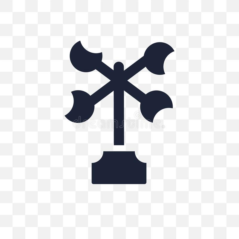 Anemometer transparent icon. Anemometer symbol design from Weather collection. royalty free illustration