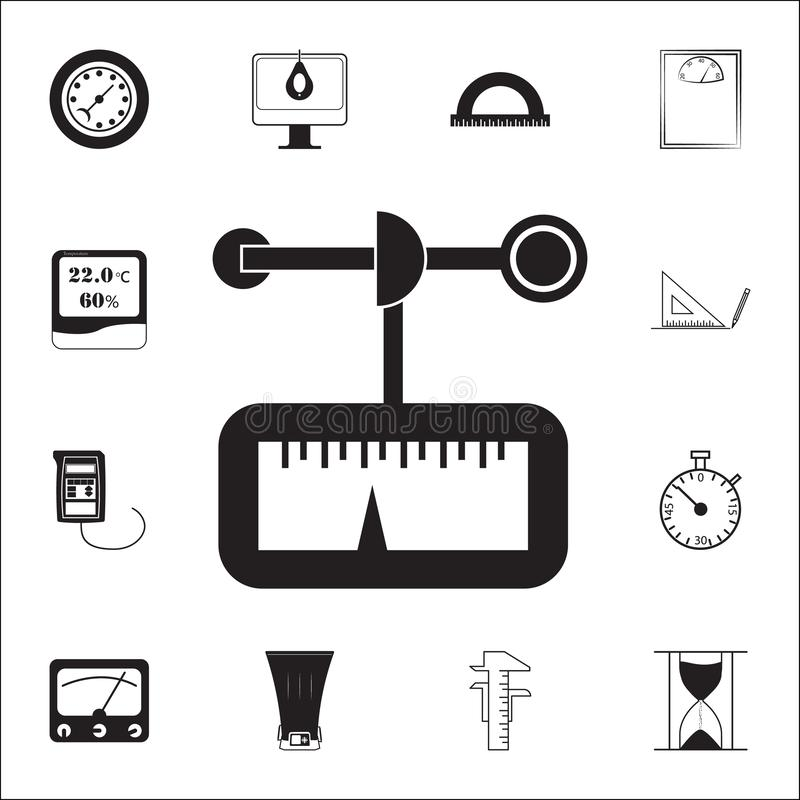 Anemometericon. measuring elements icons universal set for web and mobile. On white background vector illustration