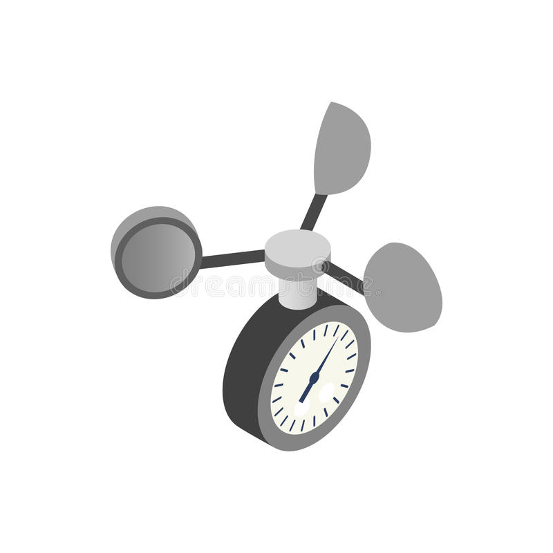 Anemometersymbol, isometrisk stil 3d stock illustrationer
