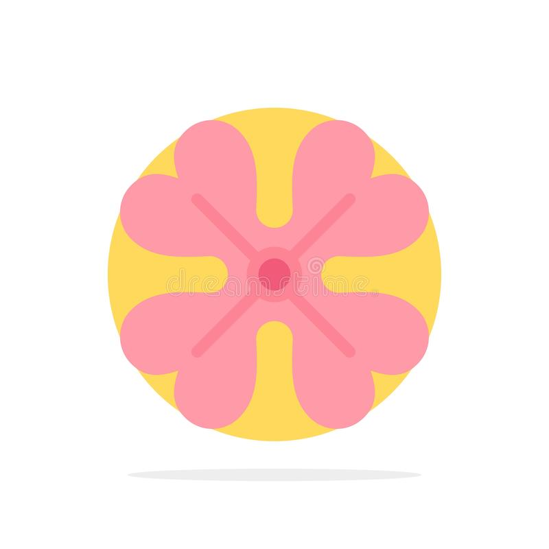 Anemone, λουλούδι Anemone, λουλούδι, ανοίξεων λουλουδιών αφηρημένο κύκλων εικονίδιο χρώματος υποβάθρου επίπεδο ελεύθερη απεικόνιση δικαιώματος