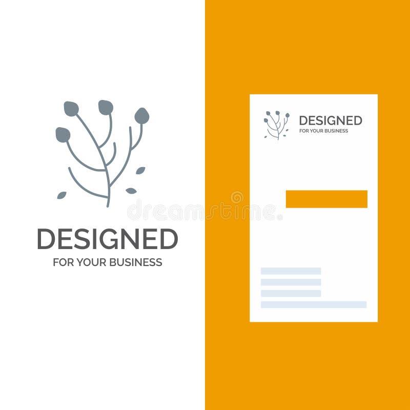 Anemone, λουλούδι Anemone, λουλούδι, γκρίζο σχέδιο λογότυπων λουλουδιών ανοίξεων και πρότυπο επαγγελματικών καρτών ελεύθερη απεικόνιση δικαιώματος