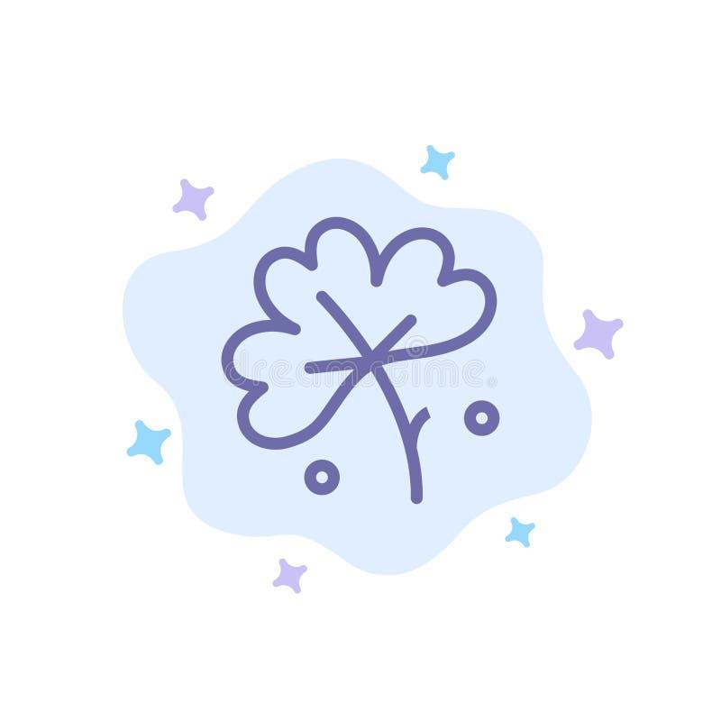 Anemone, λουλούδι Anemone, λουλούδι, μπλε εικονίδιο λουλουδιών ανοίξεων στο αφηρημένο υπόβαθρο σύννεφων απεικόνιση αποθεμάτων