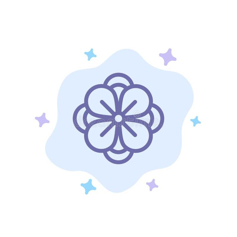 Anemone, λουλούδι Anemone, λουλούδι, μπλε εικονίδιο λουλουδιών ανοίξεων στο αφηρημένο υπόβαθρο σύννεφων διανυσματική απεικόνιση