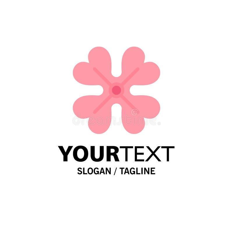 Anemone, λουλούδι Anemone, λουλούδι, πρότυπο επιχειρησιακών λογότυπων λουλουδιών ανοίξεων Επίπεδο χρώμα απεικόνιση αποθεμάτων