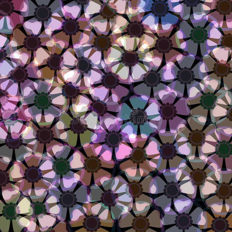 Anemone flower pattern vector illustration
