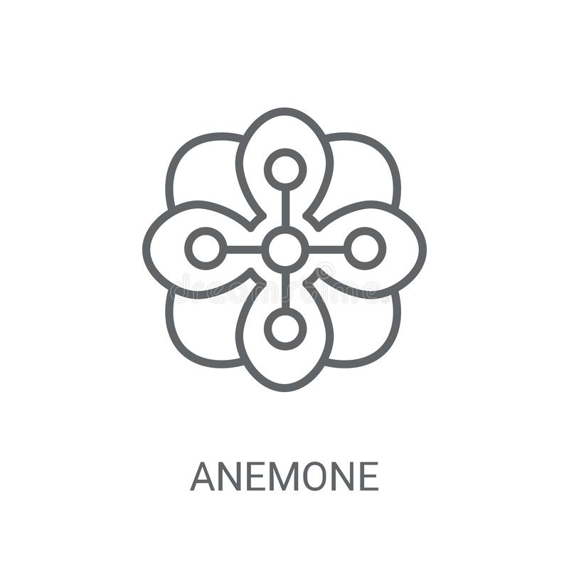 Anemone icon. Trendy Anemone logo concept on white background fr royalty free illustration