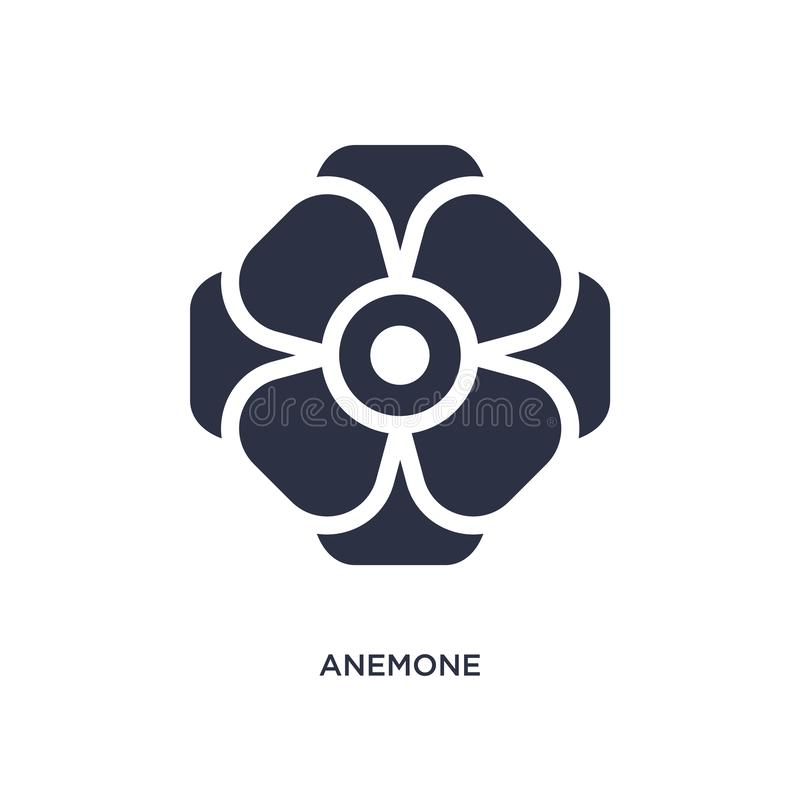 anemone icon on white background. Simple element illustration from nature concept vector illustration