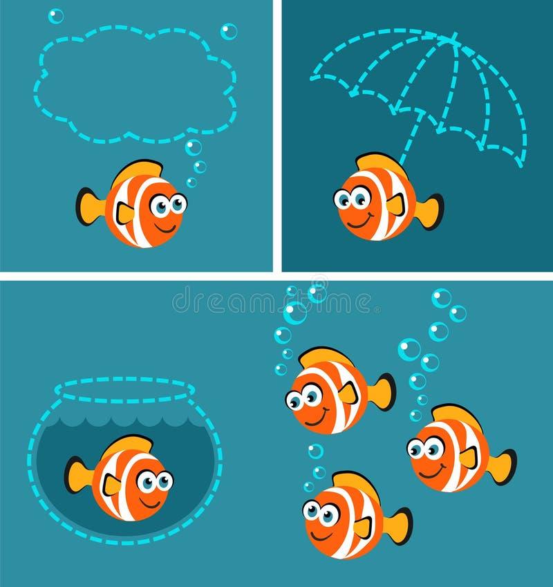 Anemonefish - cartoon collection royalty free illustration