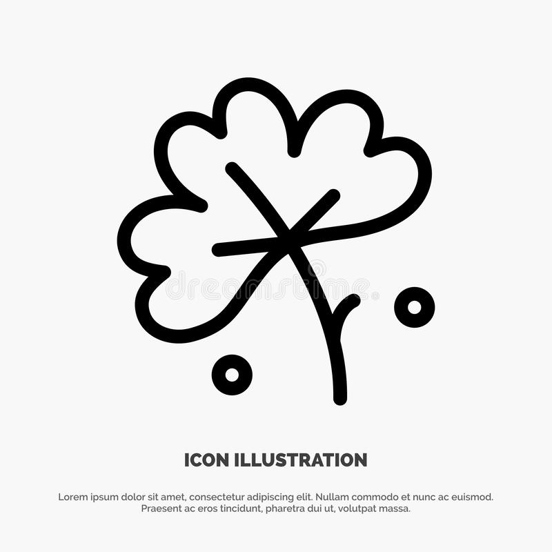 Anemoon, Anemone Flower, Bloem, de Vector van het de Lijnpictogram van de de Lentebloem vector illustratie