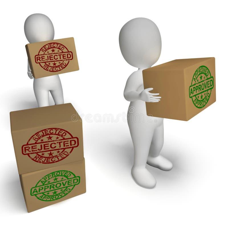 Anerkannte zurückgewiesene Kasten-Mittelprodukterprobung lizenzfreie abbildung