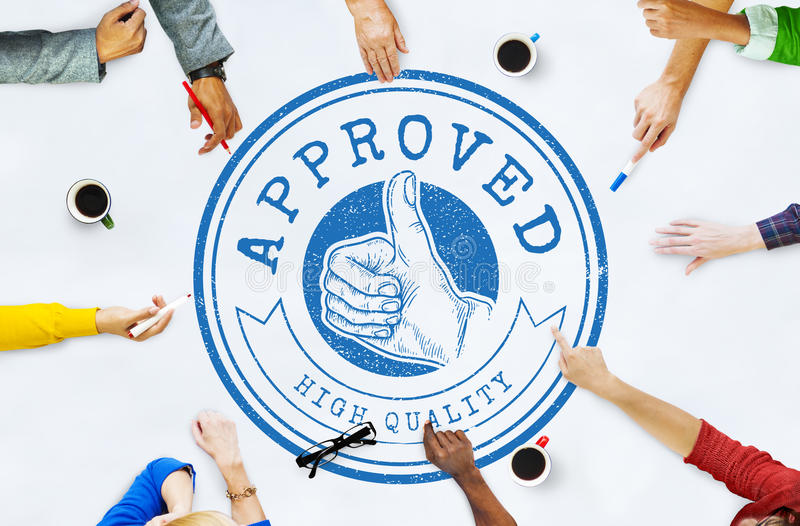 Anerkanntes bestes auserlesenes Qualitäts-Garantie-Exklusiv-Konzept stockbild