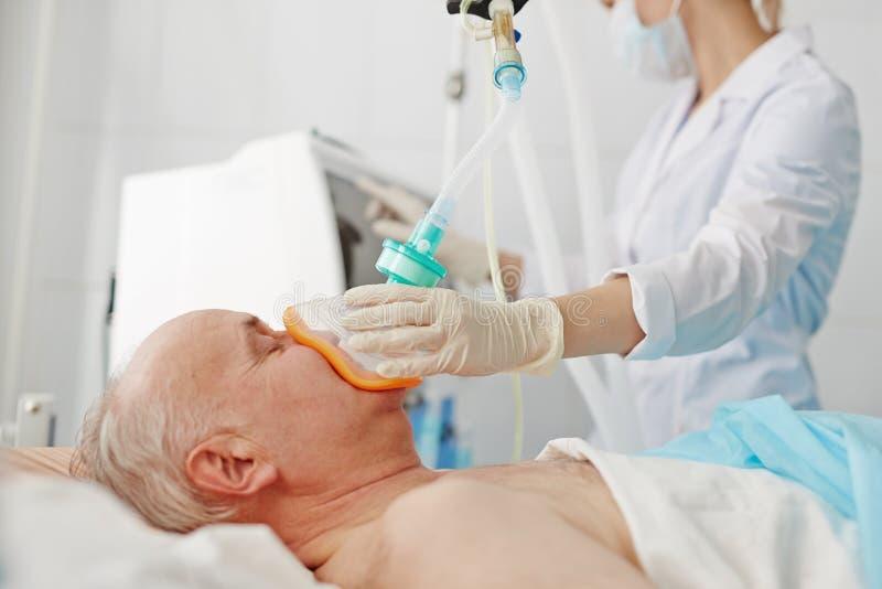 Anestezja przed operacją zdjęcie stock