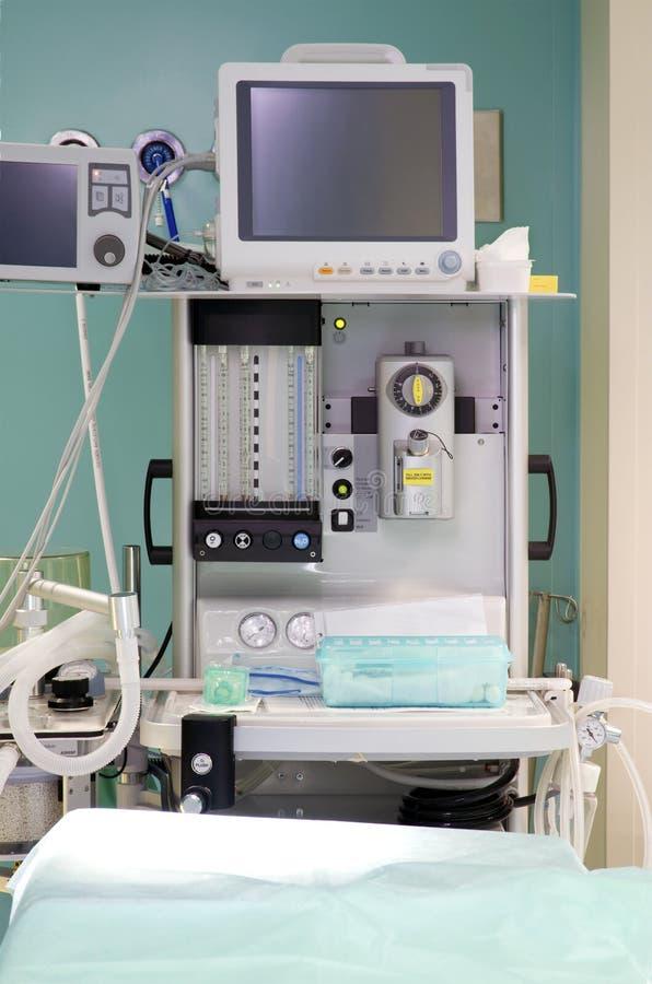 Anesthesiologyausrüstung - Operationßaal im hospi lizenzfreie stockfotos