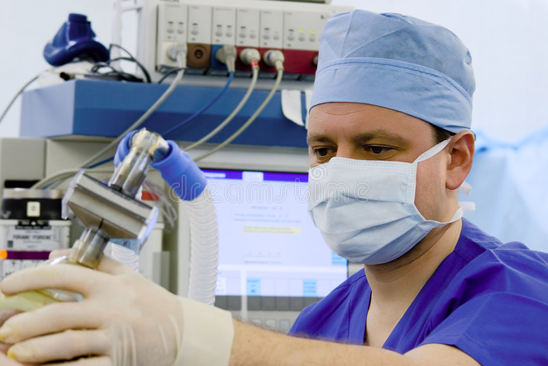 Anesthetis binnen OF royalty-vrije stock foto's