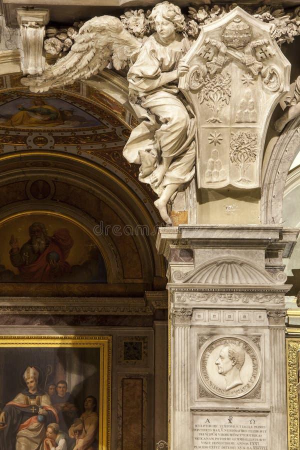 aneurysmen Santa Maria del Popolo Church detaljer rome italy arkivfoto