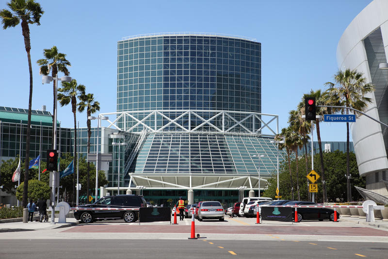 Anexo del centro de convenio de Los Ángeles foto de archivo libre de regalías