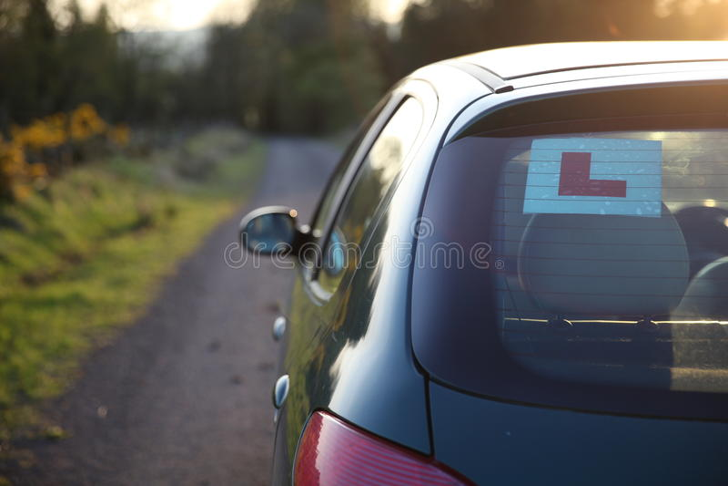 Anfängerauto lizenzfreies stockbild