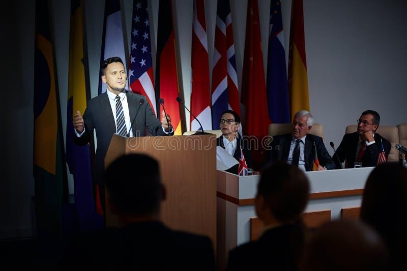 Anförande av kandidaten royaltyfria bilder