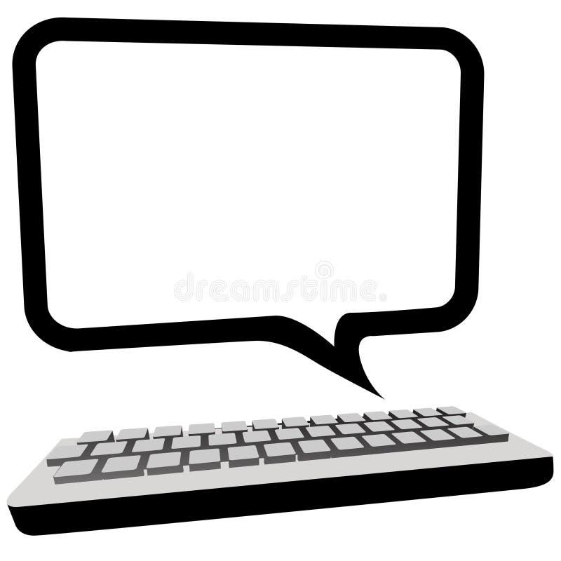 anförande för bildskärm för bubblakommunikationsdator royaltyfri illustrationer