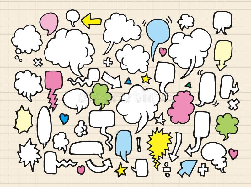 anförande för bubbladrawhand royaltyfri illustrationer