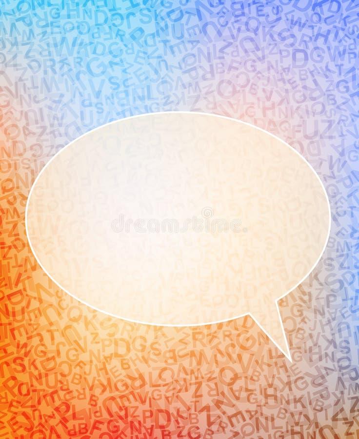 Anförandebubbla vektor illustrationer