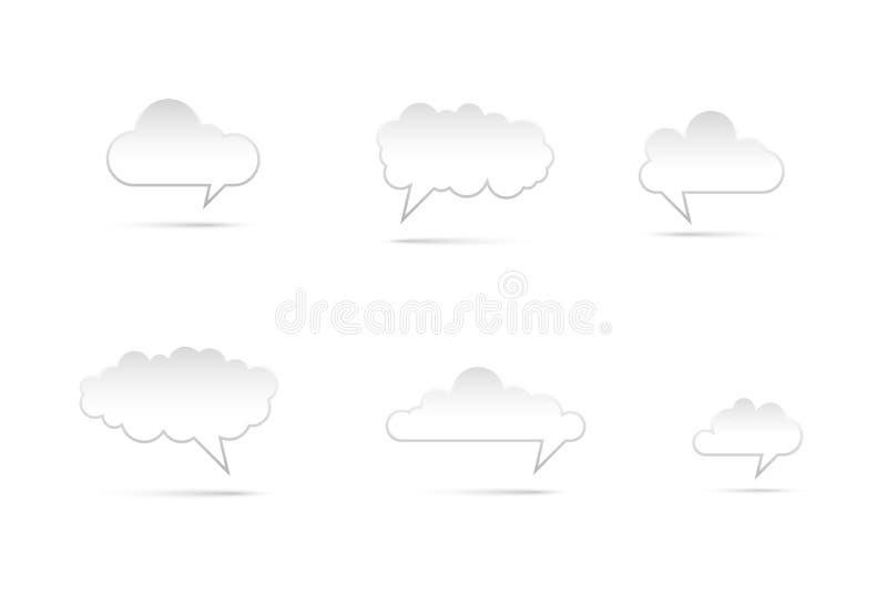 Anförandebubbla Copyspace stock illustrationer