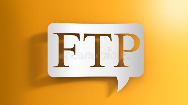 Anförandebubbla med FTP royaltyfri illustrationer