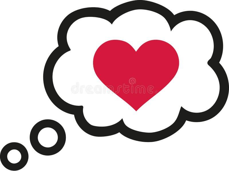 Anförandebubbla med hjärta - romantiskt samtal stock illustrationer