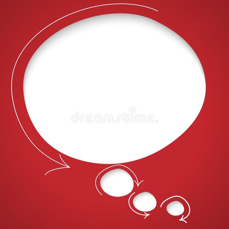 Anförandebubbla med pilar royaltyfri illustrationer