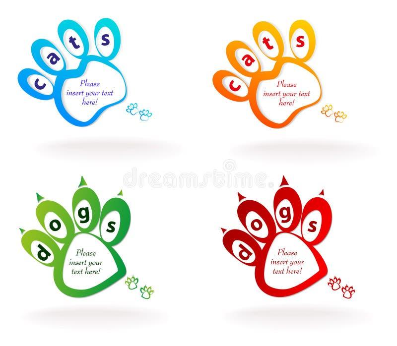 Anförandebubblahusdjur stock illustrationer